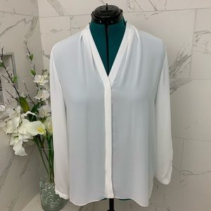 NWOT Tahari ivory blouse XL